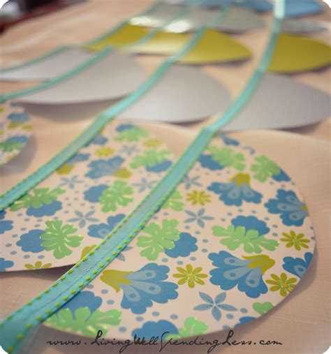 Make Paper Garland - how to make a paper garland budget friendly paper