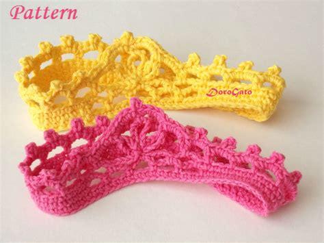 free crochet pattern for baby tiara free crochet pattern for baby princess crown dancox for