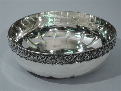 decorative beading for furniture sterling silver bowl with classical beading and