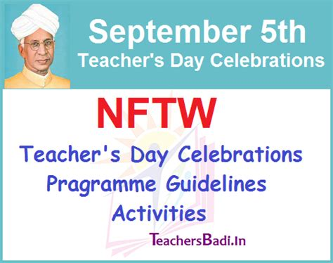 s day recommendations nftw s day celebrations on 5th september 2017