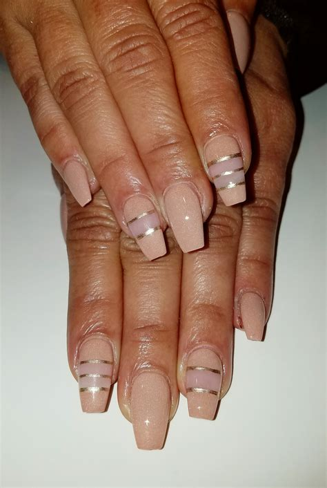 image result for very short coffin nails nails nude and negative space short coffin nails flirtatious