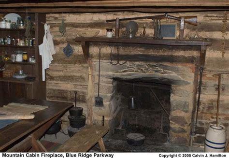 mountain cabin fireplace blue ridge parkway
