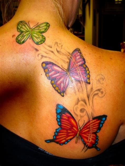 butterfly back tattoos butterfly designs for on back
