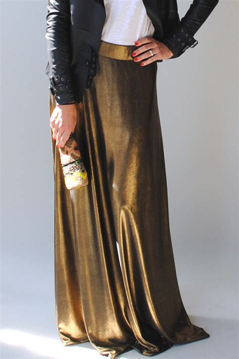 cotton couture gold maxi skirt from bucktown by