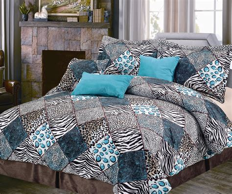 turquoise comforters total fab black white and turquoise bedding