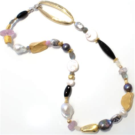 Handcrafted Jewellery Melbourne - bespoke and individual 18 ct gold stones and pearls