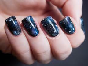 into the glitterverse galaxy nails chalkboard nails