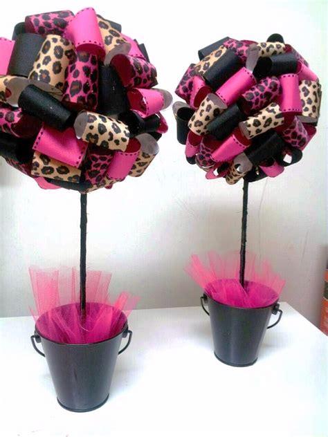 leopard print centerpieces s creations baby shower theme centerpieces