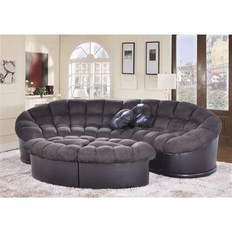4 ottoman set diana 4 chocolate papasan modern microfiber sofa and