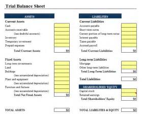 Trial Balance Template Free by Trial Balance Sheet Template Accounting Templates