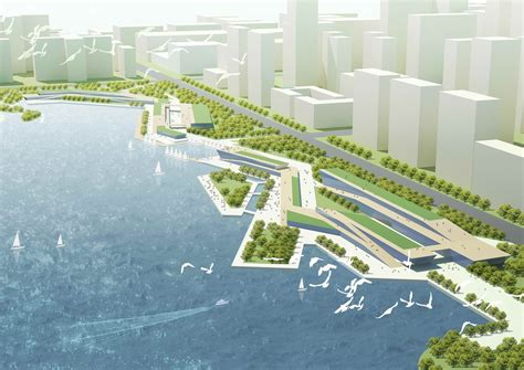 Top Design Firms In The World by Waterfront Park On Zhuyu Hu Lake Ahmed Haron Archinect