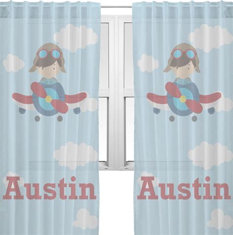 airplane curtains airplane pilot sheer curtains personalized baby n