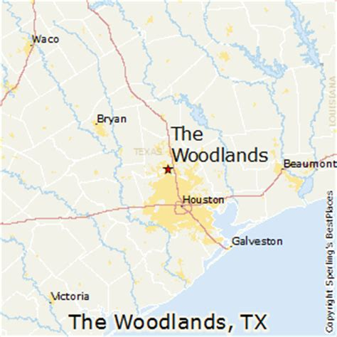 map of the woodlands texas best places to live in the woodlands texas