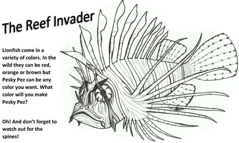 Lionfish Colouring Pages Lionfish Coloring Page