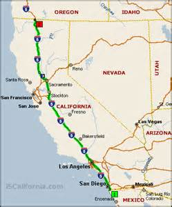 interstate 5 california distance map images frompo