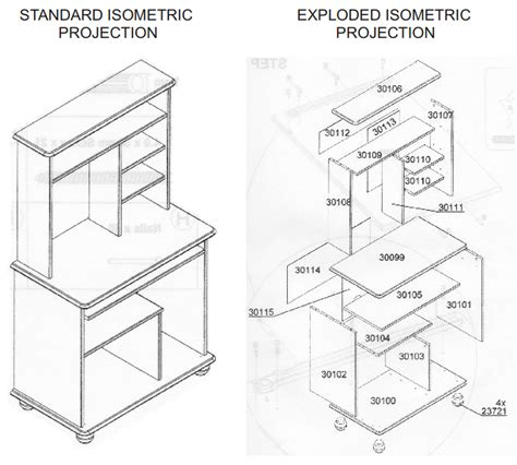 How To Draw 3d Furniture by Uni Schtuff Visual Communications Isometric And