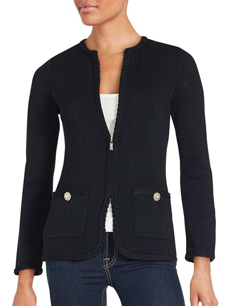st santana knit jacket lyst st santana knit jacket in black