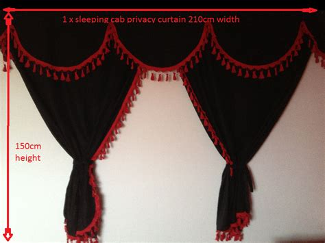 scania curtain hooks scania truck curtains set black with red tassels free