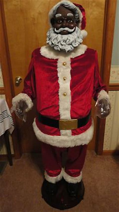 gemmy animated life size 5 african american black santa