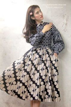 Dress Maxi Lurik Daun Sogan plus size vintage batik dress batik dress vintage