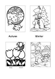 free coloring pages of four seasons