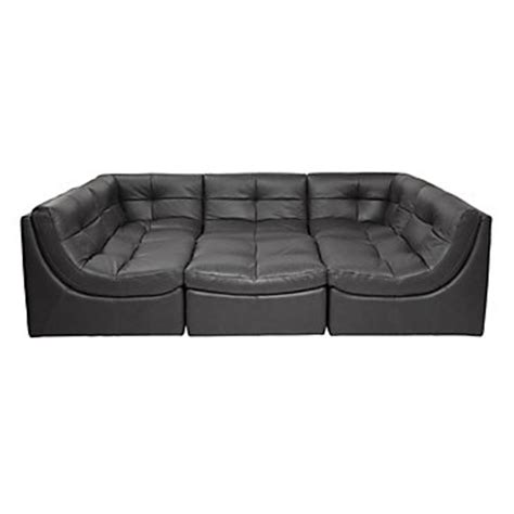 the cloud leather sectional grey sectional sofa cloud collection z gallerie