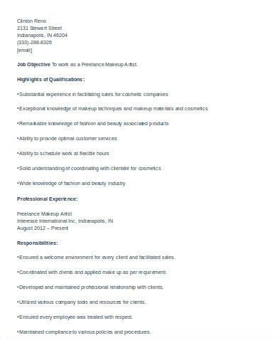 Cosmetologist Description by Cosmetologist Resume Sle 6 Exles In Word Pdf