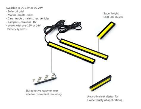 wiring 12 volt lights cob led bar for vehicle lighting discount 2 pack