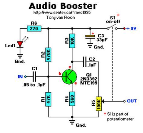470k resistor radio shack audio booster with one transistor circuit wiring diagrams