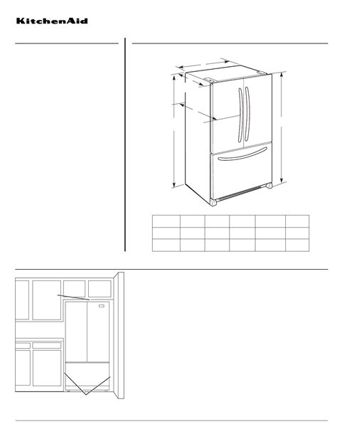 Kitchenaid Fridge User Manual Kitchenaid Refrigerator Kfcs22ev User Guide
