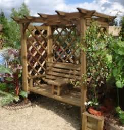 5ft Bench Duckpaddle Wooden Garden Swings Garden Arbours