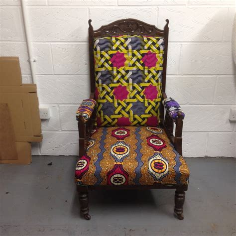 tribal pattern chair vintage tribal arm chair by blanche dlys designs