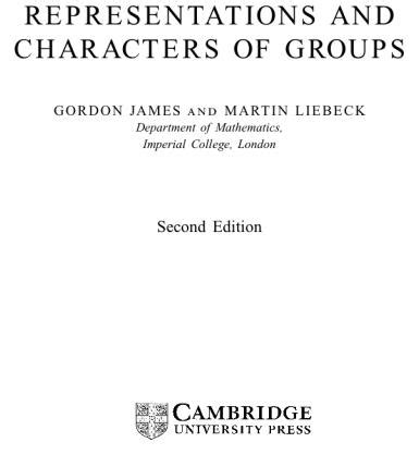 serre finite groups representations and characters of groups by gordon james