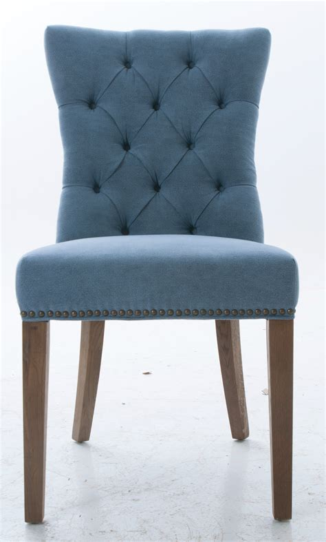 Blue Chair Upholstery Blue Upholstered Dining Chairs Homesfeed
