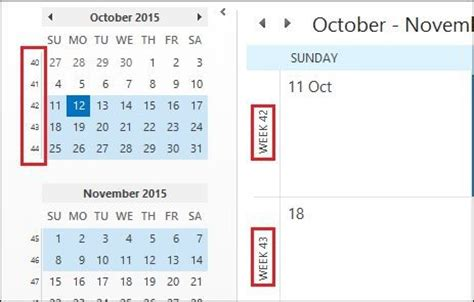 Calendar What Week How To Add Week Numbers To Outlook 2016 Calendar
