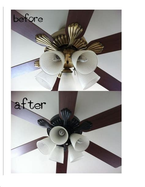 painting ceiling fans spray paint ceiling fan my home