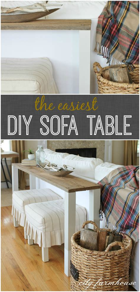 diy barnwood sofa table sofa table diy how to build a rustic sofa table worthing
