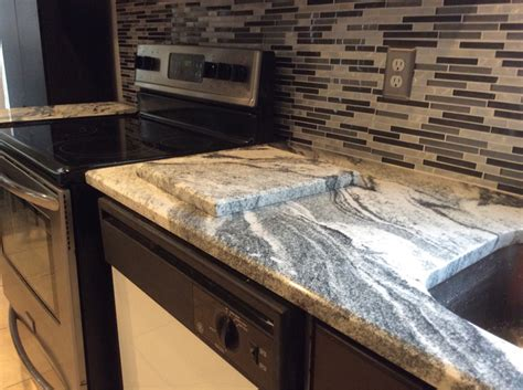 kitchen backsplash with granite countertops silver cloud granite countertops with backsplash tiles