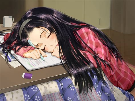 anime girl studying wallpaper how to study when you are sick anime wallpaper and
