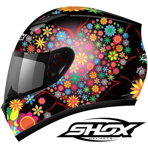 helmet design for ladies shox axxis floral ladies womens motorcycle motorbike