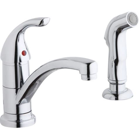 elkay kitchen faucet elkay lk1501cr everyday kitchen faucet with side spray