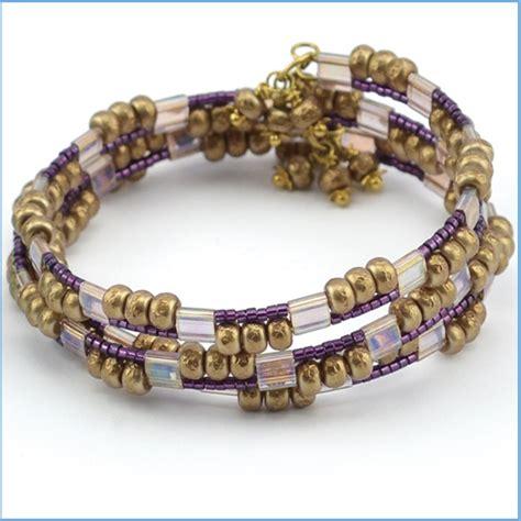 memory wire bracelet designs beaded memory wire bracelet