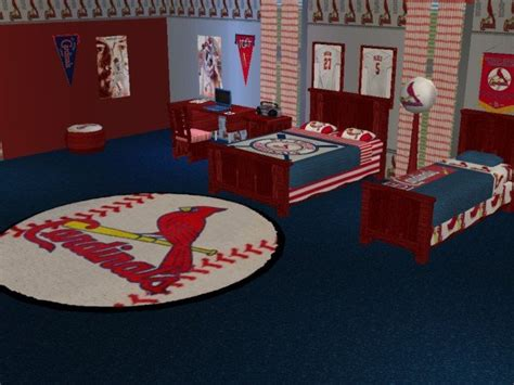 st louis cardinals bedding mod the sims st louis cardinals baseball bedroom requested