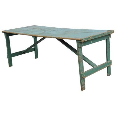 collapsing dining table collapsible leg farm dining table in old green paint for