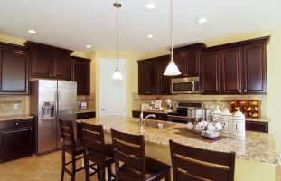 dark kitchen cabinets with light granite love dark cabinets and light granite kitchen pinterest