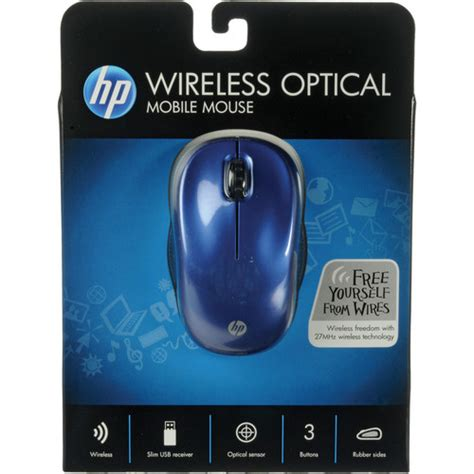 hp mobile mouse hp wireless optical mobile mouse blue we789aa aba b h photo