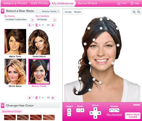 hair makeover download hairstyle makeover free hollywood hair virtual makeover