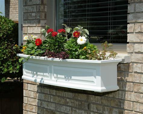 white window flower boxes mayne post nantucket 4ft window flower box white home