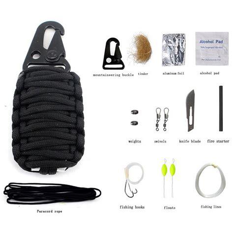 Perlengkapan Cing Survival Kit 12 In 1 perlengkapan cing survival kit 12 in 1 black