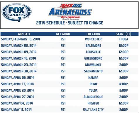 2014 ama motocross tv schedule image gallery 2014 supercross schedule